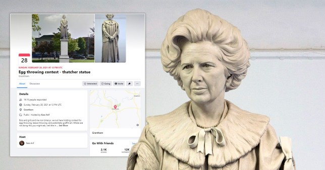 People have planned an egg-throwing contest at a Margaret Thatcher statue set to put up in Grantham.