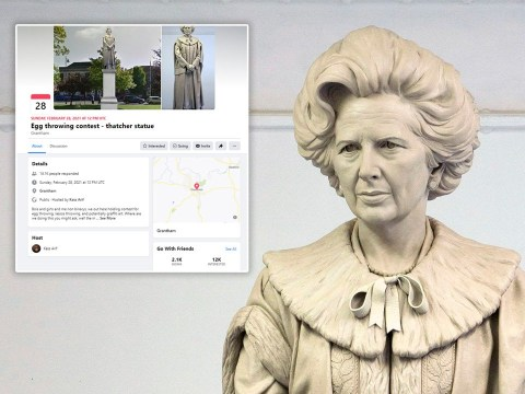 Thousands vow to throw eggs at the unveiling of Margaret Thatcher statue