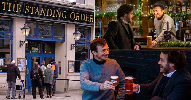 Drinkers hit pubs by 8.30am to get first pint after lockdown ends