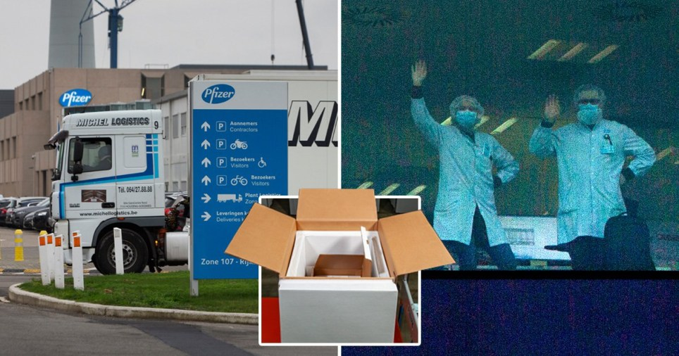 Thousands of doses of Pfizer's coronavirus vaccine are already on their way to the UK.