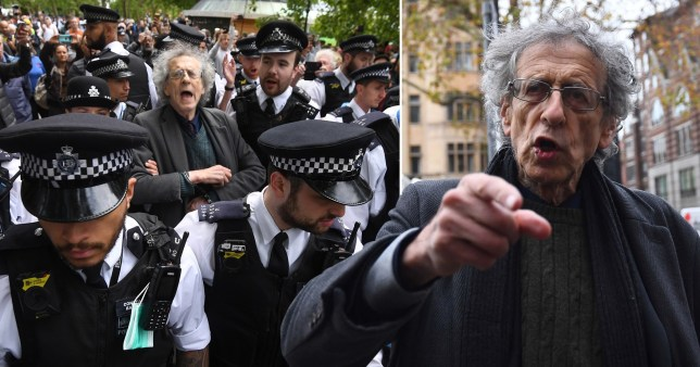 He attended an anti-lockdown protest in London's Hyde Park