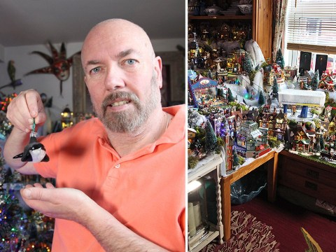 Man spends £27,000 on Christmas decorations to turn his home into a festive wonderland