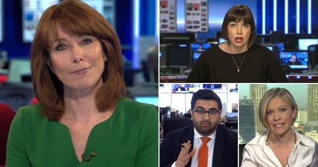 Kay Burley and Sky News colleagues