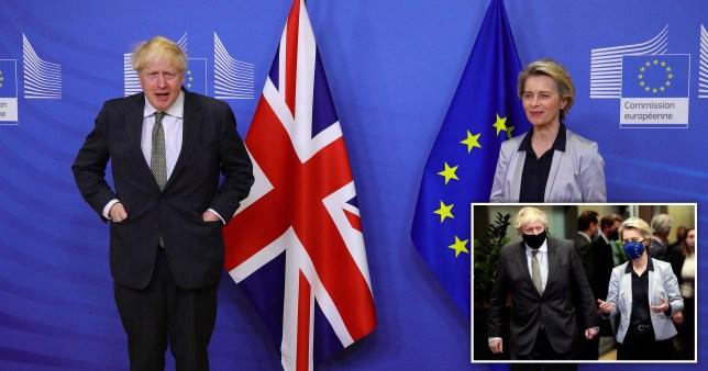 Boris Johnson and Ursula von der Leyen in Brussels