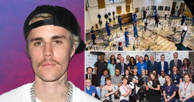 Justin Bieber and the Lewisham and Greenwich NHS Choir