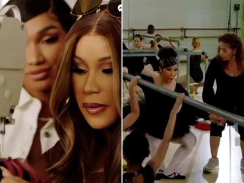 Cardi B screams in pain while trying out ballet as she reveals hilarious new Facebook show