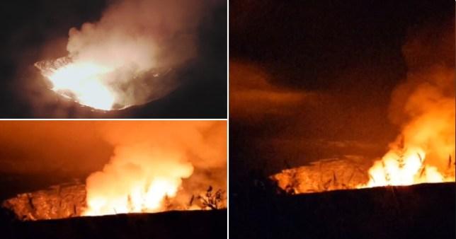 Éruption du volcan à Hawaï