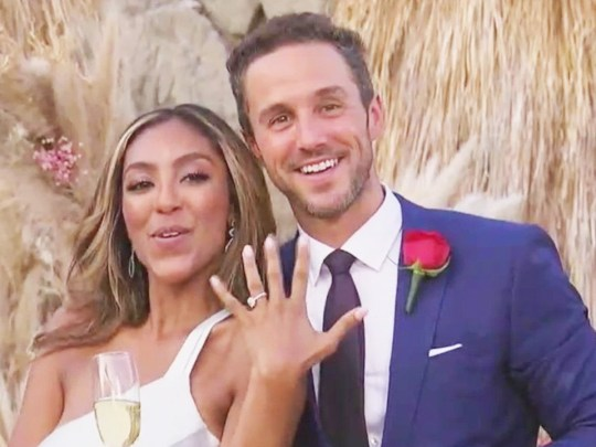 Tayshia Adams shows off her engaged ring from Zac Clark