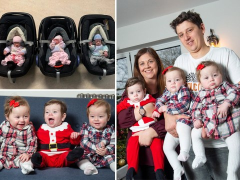 Mum gives birth to triplets – including set of identical twins – from two separate wombs