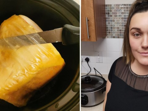 Mum glazes gammon in honey and slow cooks it for seven hours – but doesn't realise plastic is still on