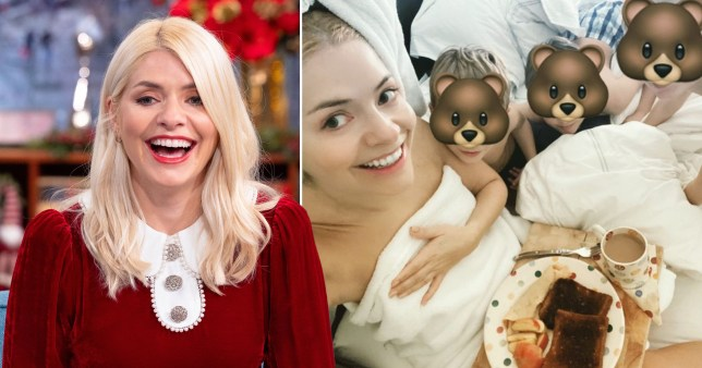 Holly Willoughby and her three kids