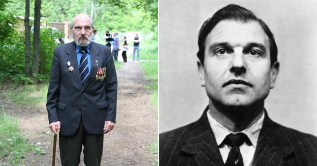 George Blake photographié comme un homme plus âgé et comme un espion lorsqu'il a fui le Royaume-Uni
