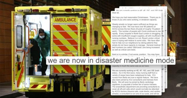 Disaster mode at Royal London Hospital