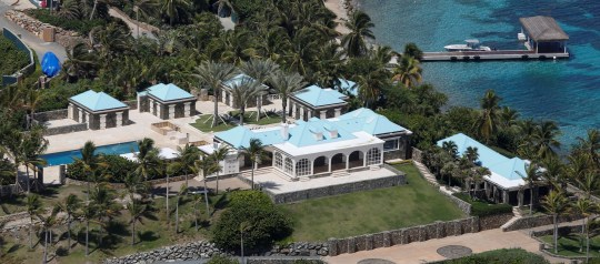 Facilities at Little St. James Island, one of the properties of financier Jeffrey Epstein, are seen in an aerial view, near Charlotte Amalie, St. Thomas, U.S. Virgin Islands July 21, 2019.