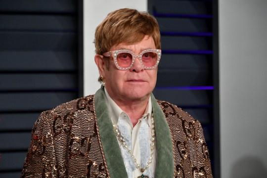 Sir Elton John on red carpet