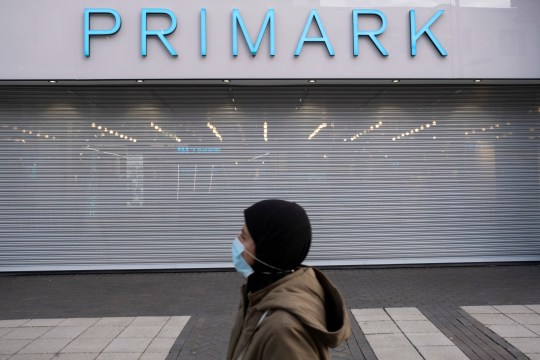 Primark has had to close it's doors again on the day that the second national lockdown came into effect in the city centre as all non-essential shops are closed while others remain trading on 5th November 2020 in Birmingham, United Kingdom. The new national lockdown is a huge blow to the economy and for individual businesses who were already struggling with only offering limited services. (photo by Mike Kemp/In Pictures via Getty Images)