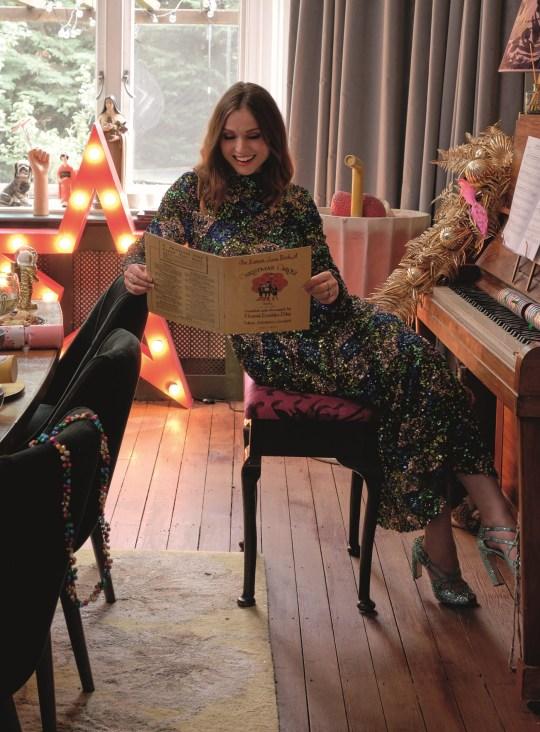 Sophie Ellis-Bextor, tournage de Noël à domicile - John Lewis