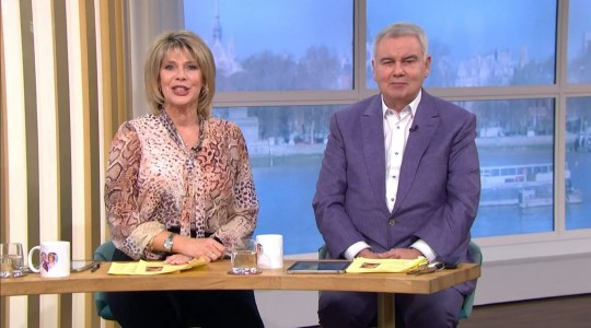Mandatory Credit: Photo by ITV/REX (11083681aa) Ruth Langsford and Eamonn Holmes 'This Morning' TV Show, London, UK - 27 Nov 2020