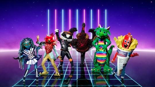 The Masked Singer UK costumes