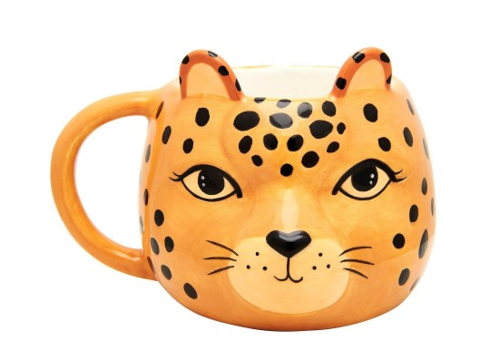 Leopard Love Shaped Mug