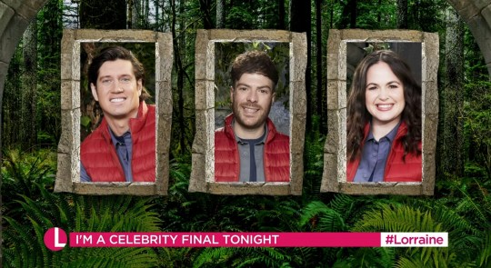 I'm A Celebrity Vernon Kay, Giovanna Fletcher and Jordan North
