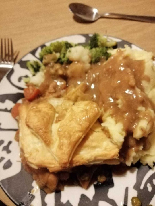 meat and veg pie made by nicole
