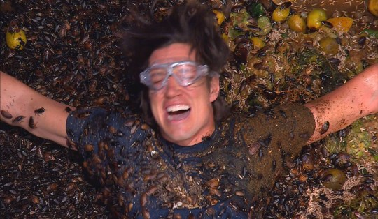 Vernon Kay doing a trial on I'm A Celebrity... Get Me Out Of Here!