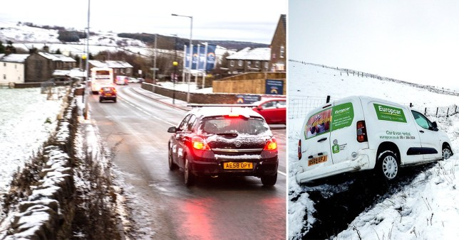 Picture: PA, SWNS Drivers warned of icy conditions as UK's cold snap continues