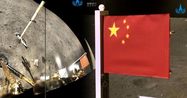 Picture: Reuters China becomes second nation to plant flag on the Moon