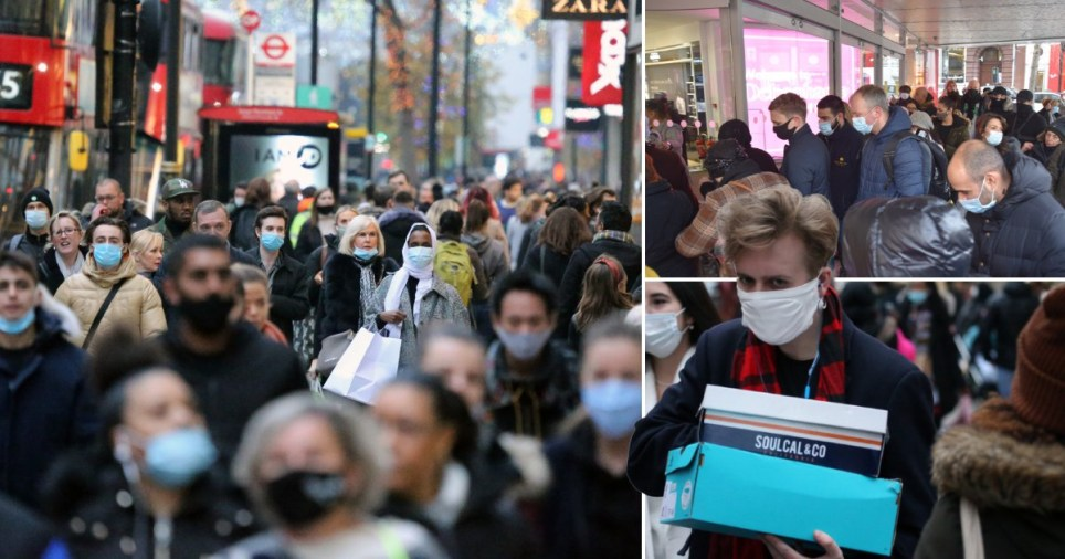 Shoppers hit high street for first weekend after lockdown in '?1,500,000,000 spending spree' Pics: Rex/Getty