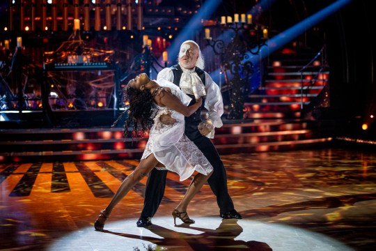Oti Mabuse and Bill Bailey performing on Strictly Come Dancing