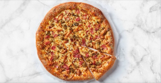 Pizza Hut Christmas Pizza Available nationwide, large size only, from ?21; pizzahut.co.uk