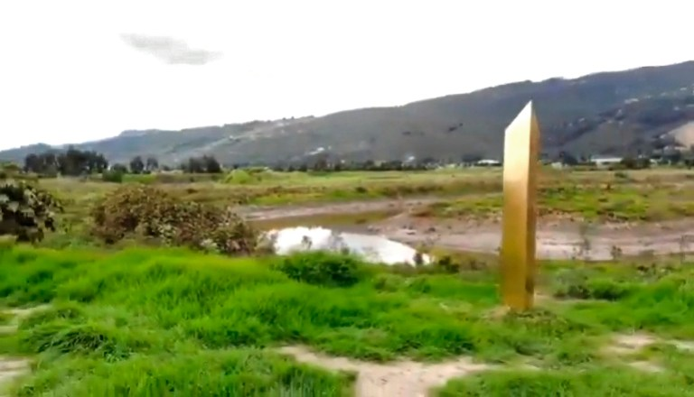 The monolith found in Chia, Colombia. (Newsflash)