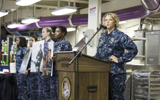 The Navy has selected a woman to command a nuclear-powered aircraft carrier for the first time in American history. Capt. Amy Bauernschmidt was selected for the position by the fiscal year 2022 aviation major command screen board. Other officers who were picked for nuclear aircraft carrier command include Capts. Colin Day, Gavin Duff, Brent Gaut, David Pollard and Craig Sicola.