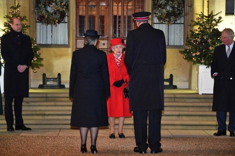 Queen Elizabeth II at a carol concert in Windsor Castle