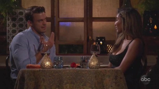 The Bachelorette Dec. 8th, 2020 Ben Smith tellsTayshia about his past suicide attempts. Bennett and Noah continue to confront one another on the impromptu two-on-one date; JoJo Fletcher explains to the men that a rose this week will be their ticket to a hometown date with Tayshia; Adam Hambrick performs. Clare Crawley, Tayshia Adams, Adam Hambrick, JoJo Fletcher