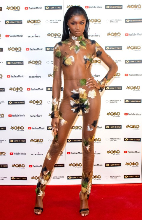 Leomie Anderson at the MOBO Awards 2020
