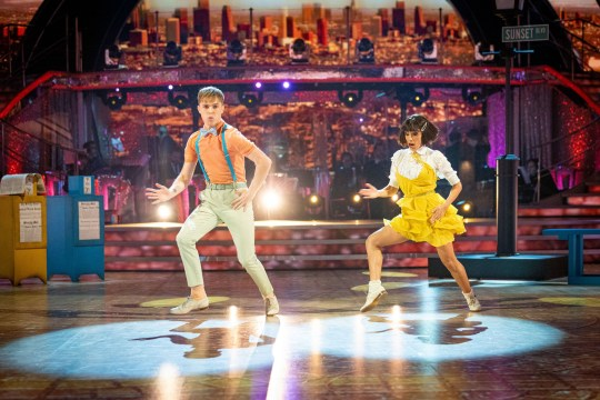 HRVY and Janette Manrara on Strictly Come Dancing