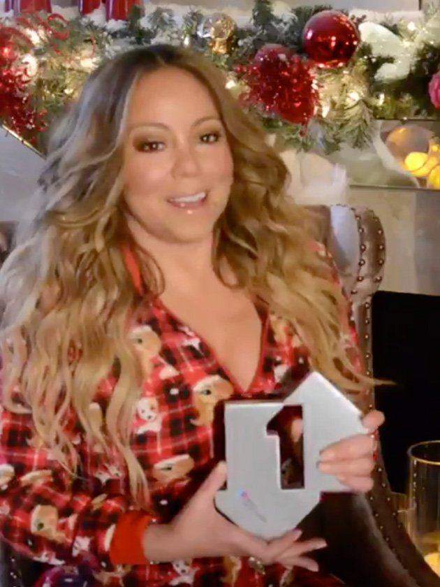 Mariah Carey with number one for All I Want For Christmas Is You