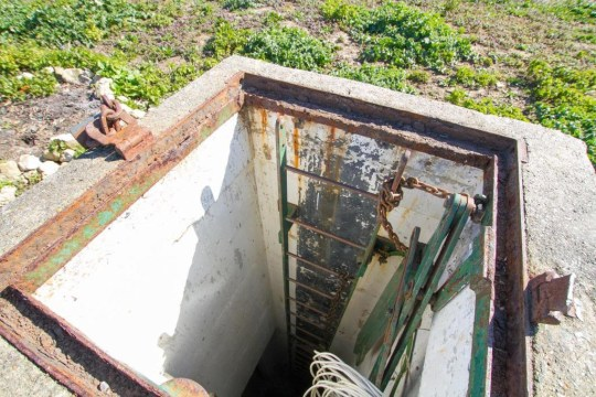 the door of a nuclear bunker