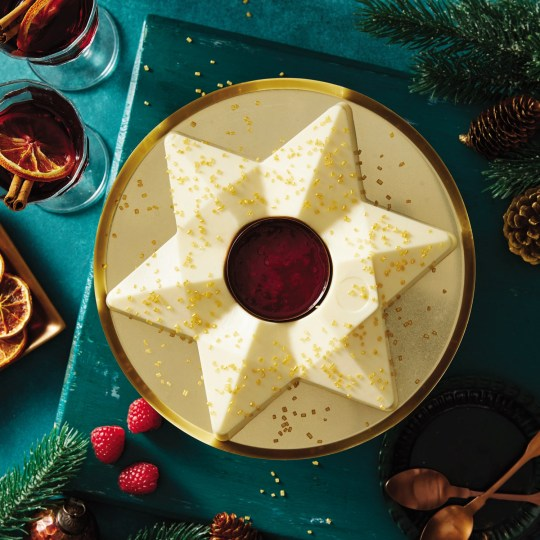 Morrisons The best xmas star panna cotta with raspberry sauce