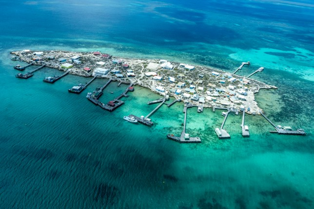 High angle view of houtman abrolhos islands.