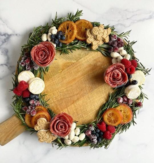 Charcuterie wreaths