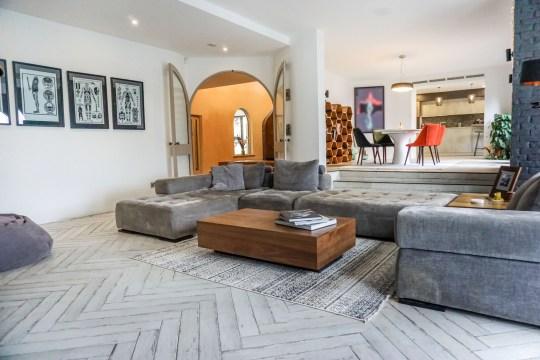 living room of villa in sheffield
