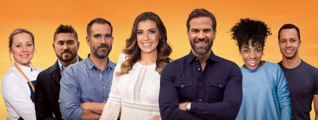 Morning Live - Kym Marsh and Gethin Jones with team