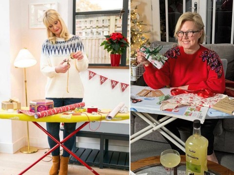 Mums discover perfect wrapping hack to stop back pain while sorting Christmas presents