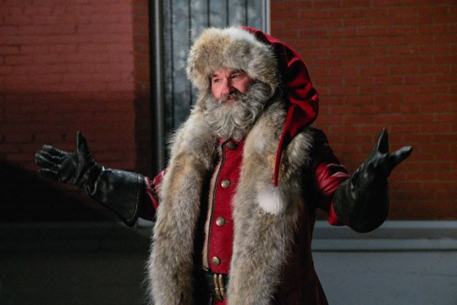 Editorial use only. No book cover usage. Mandatory Credit: Photo by Michael Gibson/Netflix/Kobal/REX (10046482g) Kurt Russell as Santa Claus 'The Christmas Chronicles' Film - 2018 The story of sister and brother, Kate and Teddy Pierce, whose Christmas Eve plan to catch Santa Claus on camera turns into an unexpected journey that most kids could only dream about.