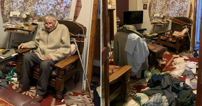 94 yr old home robbed and trashed just before Christmas Pics: Declan O'Neil/Twitter
