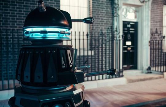 Doctor Who dalek outside Number 10
