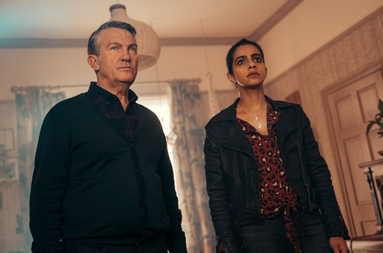 Bradley Walsh as Graham and Mandip Gill as Yaz in Doctor Who's Revolution of the Daleks